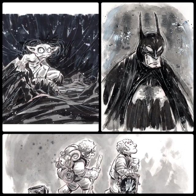 Closeups and finals from this weekend: gollum, batman, frodo and sam. For a limited time I've lowe