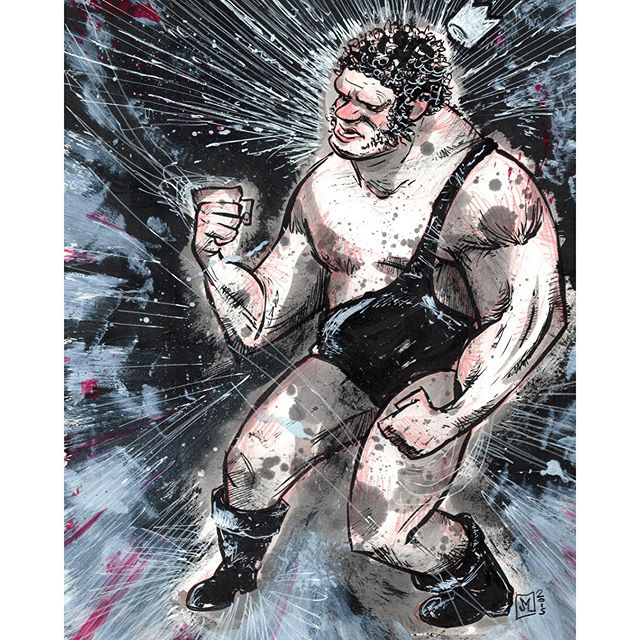 King of Wrestling: an Andre the Giant commission. http://rndm.us/jms # # Drawn using @artemscribendi