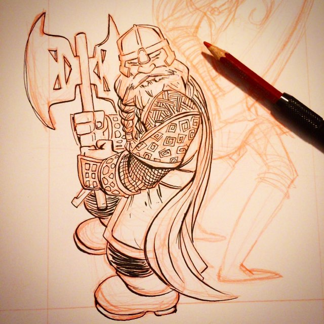Gimli Progress: For a limited time I've lowered my commission prices. $25 BW (2 spots left); $50 s