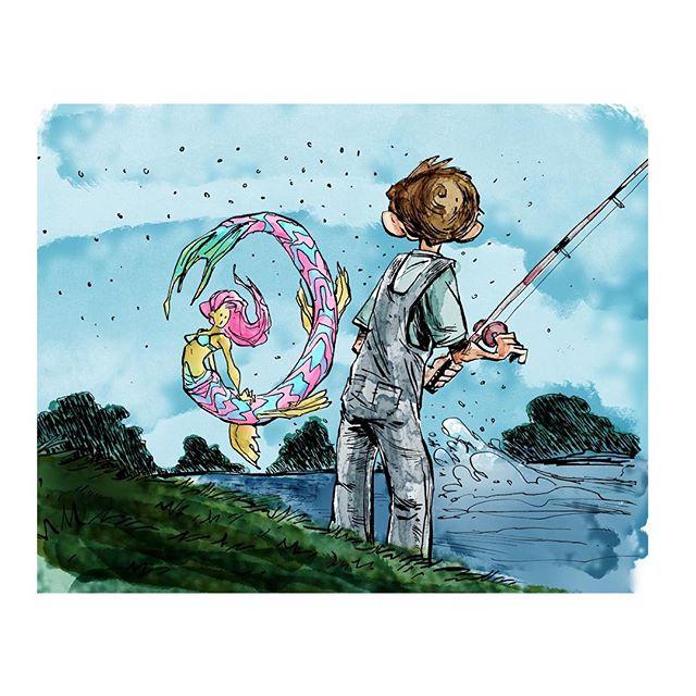 Practicing coloring. Fish stories http://rndm.us/jms # # Drawn using @artemscribendi's awesome pen h