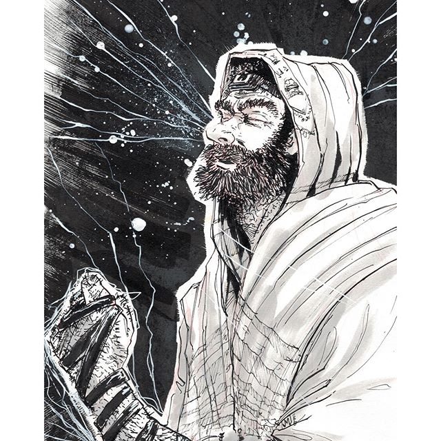 ישוע מנצרת Jesus from Nazareth celebrating Yom T'ruah http://rndm.us/jms # # Drawn using @a