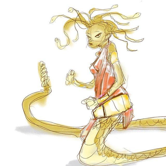 2min Gorgon Doodle